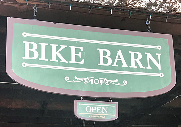 Bike Barn sign
