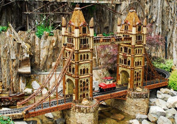 Vanderbilt Travels Railway display