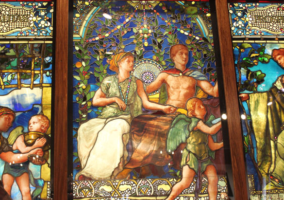 La Farge windows representing Hospitality and Prosperity
