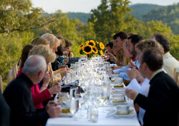 Summer white wine party at Biltmore