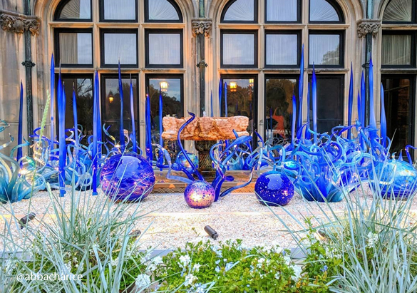 Sky Blue and Cobalt Fiori by artist Dale Chihuly