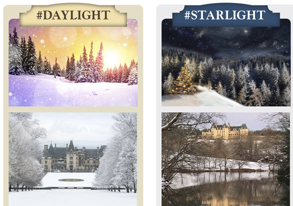 Theme boards with daylight and starlight options