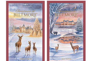 Christmas at Biltmore Red Wine and White Wine labels