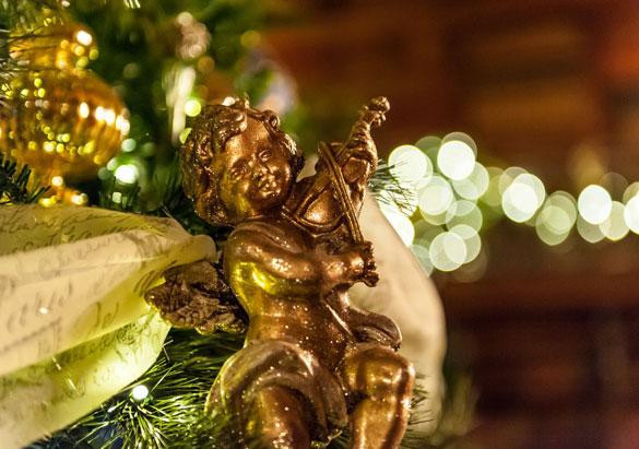 Gilded cherub ornament in Biltmore House