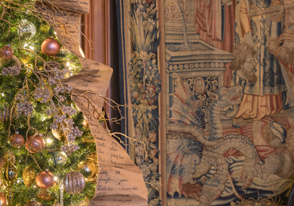 Detail of Christmas Tree in Tapestry Gallery