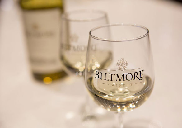Biltmore wine glass with white wine