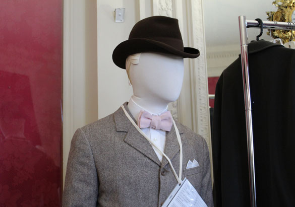 George Vanderbilt's mannequin wearing a hat