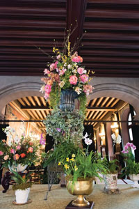 Biltmore Blooms floral arrangement in Vestibule