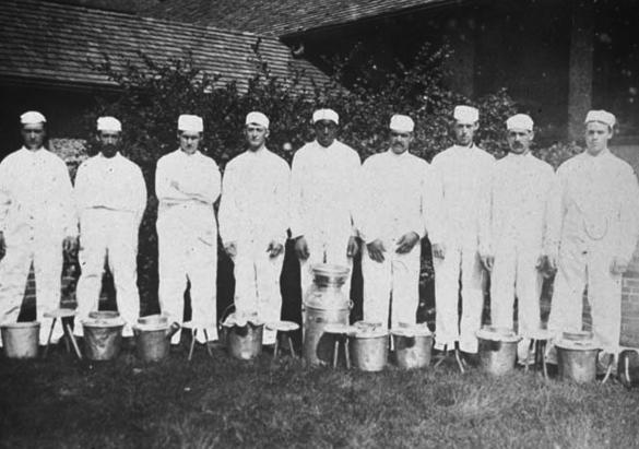 Biltmore Dairy workers, ca. 1910