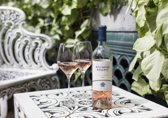 Biltmore Reserve North Carolina Rosé 2018 in the Conservatory