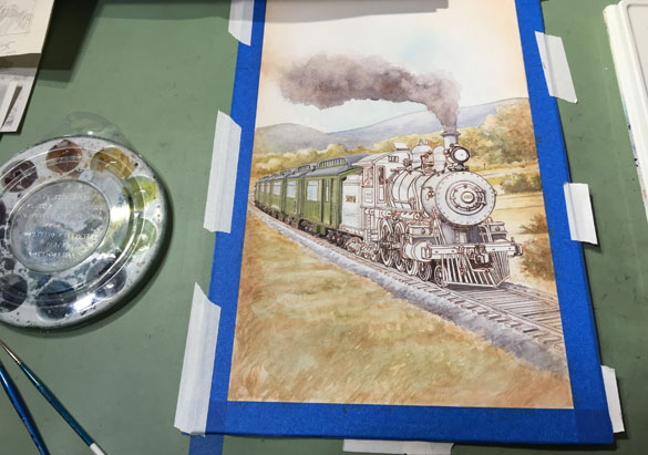Final artwork for The Railcar label nears completion