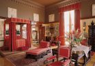 <b>Mr. Vanderbilt's Bedroom</b> highlights his attention to detail, with gilded wallcoverings and decorative locksets and sconces. His bedroom features 17th-century Portuguese turned and carved furniture, including his grand walnut bed.