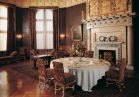 "Both breakfast and luncheon were served in the <b>Breakfast Room</b>. Portraits on display include Cornelius ""Commodore"" Vanderbilt, George Vanderbilt's grandfather and founder of the family fortune. George's father, William Henry Vanderbilt, was a famed art collector who greatly influenced his son's love of art."