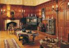 The <b>Oak Sitting Room</b> joins the family bedrooms. This paneled sitting area is where the Vanderbilts shared breakfast and where they planned the day with the head housekeeper.