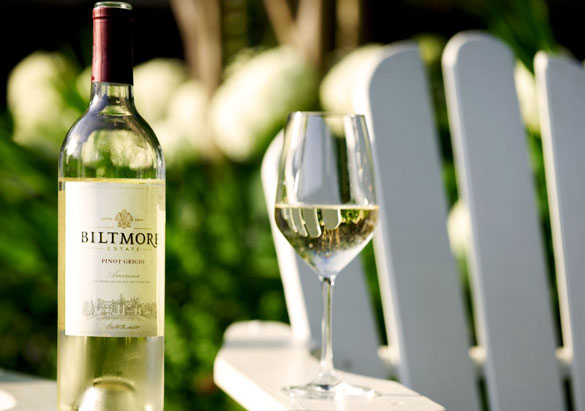 Bottle of Biltmore white wine