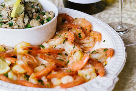 Marinated Smoked Oysters and Shrimp