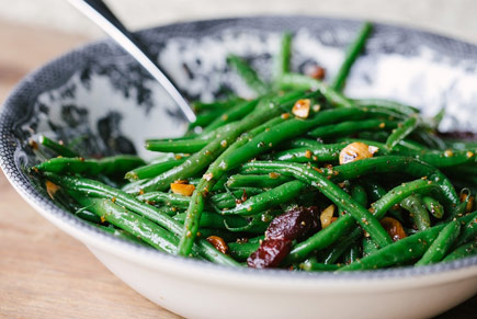 Green Beans with Pancetta and Hazelnut Brown Butter