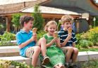 Enjoy delicious ice cream at the Creamery.