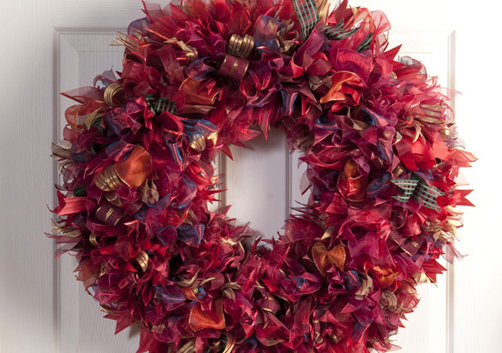 Easy Ribbon Wreath For The Holidays Biltmore