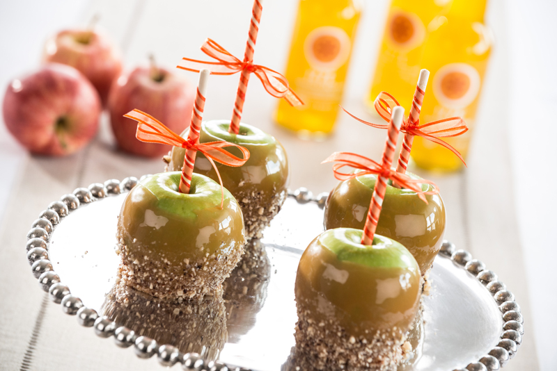 Caramel Apples with Hazelnuts and Sea Salt