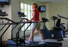 Keep your exercise routine going during your visit in our fitness area.