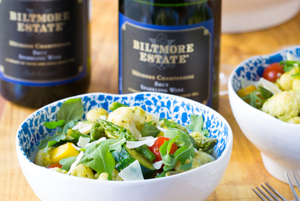 Goat Cheese Gnocchi with Garden Vegetables and Arugula Pesto