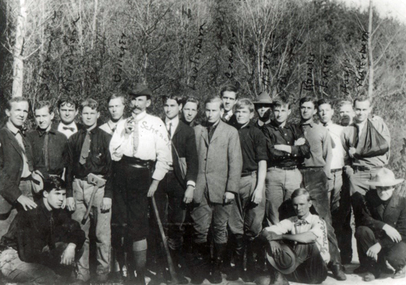 Dr. Carl A. Schenck with Biltmore Forest School students, 1900*