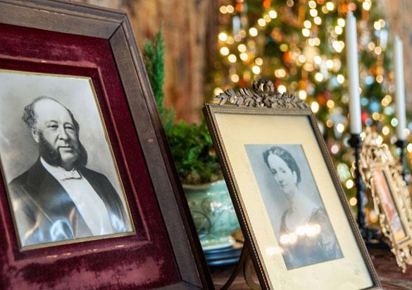 Photos of George Vanderbilt's parents on display during Christmas at Biltmore