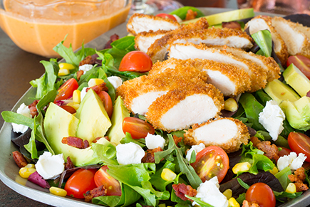 Fried Chicken Salad With Jalapeño Lime Vinaigrette