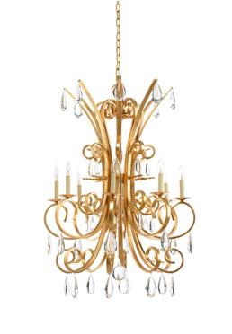 Grand Stairs Chandelier - Gold