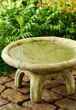 Bamboo Birdbath