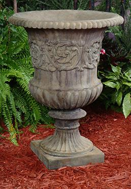 English Floral Urn