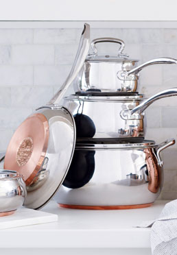 11-Piece Stainless Steel Belly Set with Copper Encapsulated Bottom