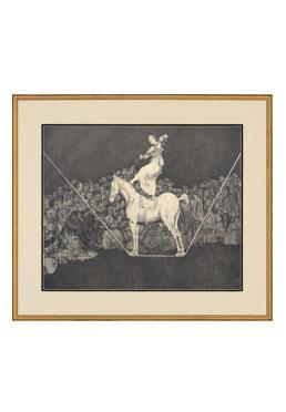 Black & White Engravings - The Tightrope