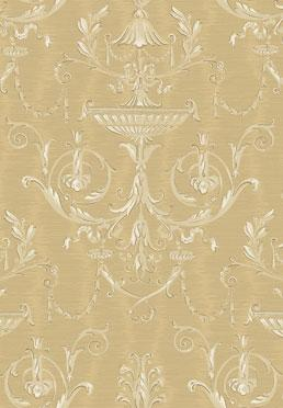 Ex Libris Wallcovering - <br />  Gold on Gold