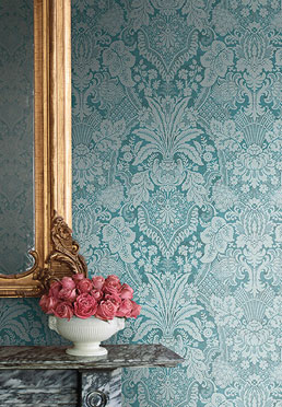 Aubusson Wallcovering - <br /> Teal