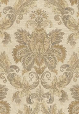 Dramatic Damask Wallcovering - Gold