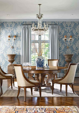 Amphora Wallcovering - Blue