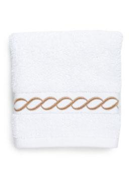 Hotel Scroll Contrast Bath Towel Collection