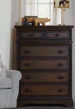 Amherst 6 Drawer Chest - Burnt Oak