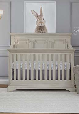 Amherst 4-in-1 Lifetime® Convertible Crib - Antique White