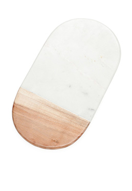 Artisan Acacia and Marble Oval Cheese Board