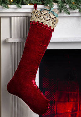 Gilded Stocking - Burgundy