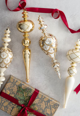 Legacy Glass Finial Ornament Set