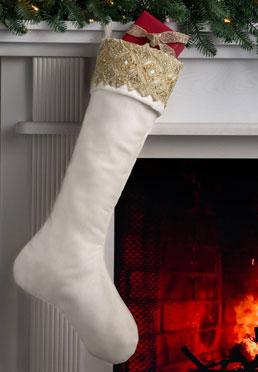 Gilded Stocking - Ivory
