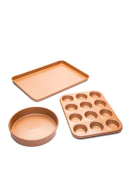 3-Piece Copper Bakeware Set