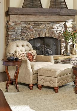 Vestibule Tufted Occasional Chair & Ottoman