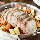 Chili Roasted Pork Loin with Roasted Carrots and Parsnips