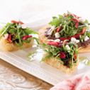 Crisp Potato Pizza with Sweet Peppers, Goat Cheese, and Olive Tapenade