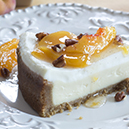Peach Preserves Cheesecake Topping With Toasted Pecans